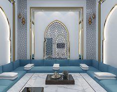 Moroccan majlis in Kuwait Moroccan Home Decor, Moroccan Interiors, Moroccan Bedroom, Moroccan Lanterns, Moroccan Design, Moroccan Tiles, Home Room Design, Home Interior Design, House Design