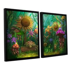 Meet The Imaginaries by Philip Straub 2 Piece Floater Framed Canvas Set