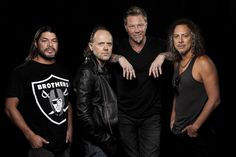 """Metallica Metallica promotes its """"Through the Never,"""" which is the band's """"Apocalypse Now,"""" says drummer Lars Ulrich, second from left with bassist Robert Trujillo, guitarist-singer James Hetfield and guitarist Kirk Hammett. The film opened on Imax screens in late September. http://www.latimes.com/entertainment/lat-cindy-celeb-la0011329641-20130910-photo.html"""