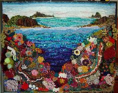 https://flic.kr/p/5x7ASJ   Coral Isle - Mural 1m x 1m   while playing around with yarns, stitches, hook sizes, texture, form and colour I kept coming up with motifs that reminded me coral – I gave in - went with the flow and created this 1m x 1 m mural