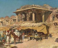 The Market in Ahmadabad, India by Edwin Lord Weeks