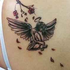 fallen angel tattoo beck shoulder