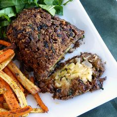 Lentil and Mushroom Loaf with Savoury Potato Filling