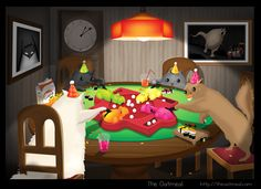 Cats Playing Hungry Hungry Hippos - The Oatmeal