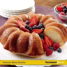 This recipe for Summer Berry Savarin is perfect for bridal showers, birthdays and more