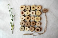 Lacing Wooden Toy/ Wood Lacing Set/ Waldorf Toy/ by MamumaBird