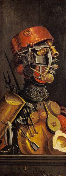 Il cuoco di Giuseppe Arcimboldo  #art #grotesque #grottesco #opticalillusion #job