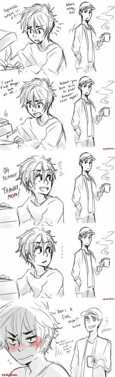 (OH MY GOD YES) Hiro: *blushes like a tomato* I meant T-Tadashi..........n-not mom.......