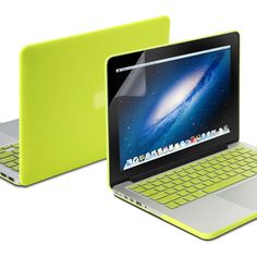 Amazon.com: Macbook Pro Retina 13 Case, GMYLE(R) Neon Yellow 3 in 1 Rubberized (Rubber Coated) Hard Case Cover - Silicon Keyboard Cover (Model: A1425 and A1502) - Clear LCD Screen Protector - (Not Fit For Macbook Pro 13): Computers & Accessories