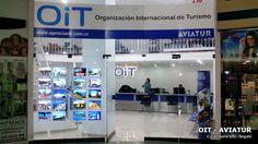 Agencia de viaje OIT en Iserra 100 en Bogotá aliado de Aviatur instaló 20 avisos LED VM Two de Vitrinemedia para atraer más clientes a su oficina y vender más.