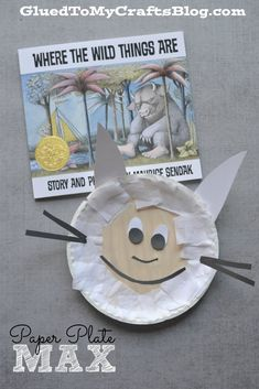 Today I present to you my simple and inexpensive Paper Plate Max Kid Craft tutorial that goes along PERFECTLY with the book, Where The Wild Things Are Preschool Books, Preschool Crafts, Kid Crafts, Camping Crafts, Preschool Plans, Summer Crafts, Halloween Crafts, Storybook Crafts, Paper Plate Crafts For Kids
