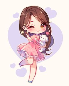 Video commission - beauty love by hyanna-natsu anime cute anime chibi, anim Dibujos Anime Chibi, Cute Anime Chibi, Kawaii Chibi, Cute Anime Pics, Kawaii Art, Kawaii Anime Girl, Fan Art Anime, Anime Art Girl, Anime Girls