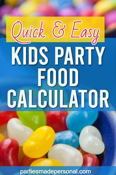 Party Planning Food Calculator for Kids Parties - Easy kids party food catering calculator. Click to see how much you'll need for your next party. #kidsparties #birthdayparty #birthdayparties #kidsparty #kidspartyfood #partyfood