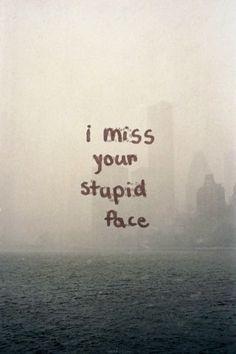 Frases Bonitas Para Todo Momento. : I miss your stupid face.