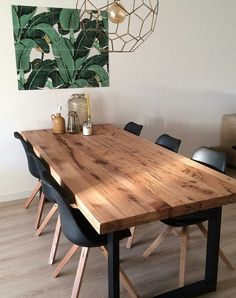 Decor, Dining Room Design, Farmhouse Dining Room, Rustic Dining Table, Modern Table, Dining Room Decor, Small Dining Table, Home Decor, Dining Table