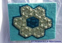 Hexagon pattern Crochet Yarn Art