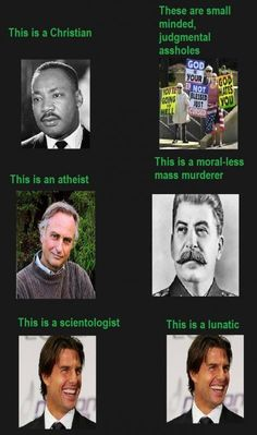 No judgements .  Except for Scientology.....