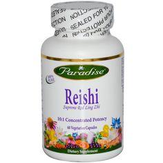 Paradise Herbs, Reishi, Supreme Red Ling Zhi, 60 Veggie Caps - iHerb.com