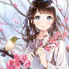 in my pin I save cartons or Kawaii Anime Girl, Manga Anime Girl, Cool Anime Girl, Anime Girl Drawings, Beautiful Anime Girl, Anime Artwork, Anime Chibi, Cute Drawings, Anime Girls