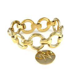 "Ashley Classics Status Link 7/1/4"" Bracelet Initial N Charm 030Q Mother's Day #AshleyClassics #Link"