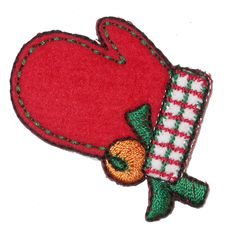PATCHWORK PANDA LLC - Iron On Patch Applique - Christmas Mitten, $0.80 (http://www.patchworkpandatrims.com/iron-on-patch-applique-christmas-mitten/)