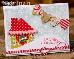 House and heart garland