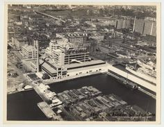 Cool shot of the Maxwell House Coffee plant in Hoboken, NJ. From the collection of Hoboken Historical Museum.
