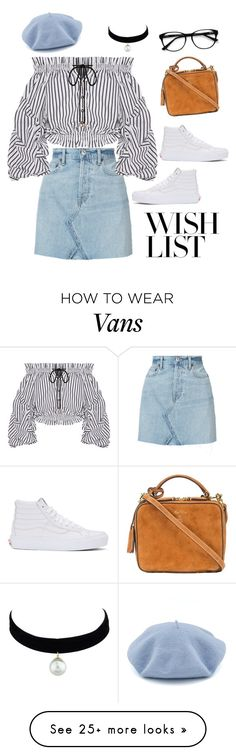 """#PolyPresents: Wish List"" by amandecg on Polyvore featuring RE/DONE, Caroline Constas, EyeBuyDirect.com, Vans, Mark Cross, contestentry and polyPresents"