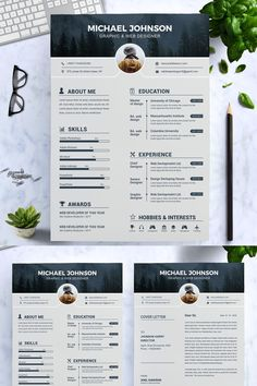 Welcome to the Resume Inventor!==========================We are professionals with several years of experience in the job recruitment industry. Graphic Designer Resume Template, Graphic Design Resume, Cv Design Template, Modern Resume Template, Creative Resume Templates, Cv Website, Website Ideas, Cv Finance, Template Monster