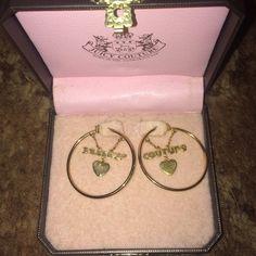 Juicy Couture Gold Hoop Earrings