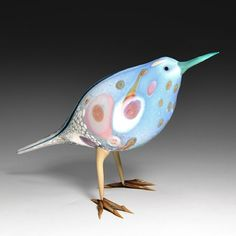 Pismo Fine Art Glass~ What a sweet bird from Shane Fero Clay Birds, Ceramic Birds, Pet Birds, Art Of Glass, Glass Figurines, Glass Animals, Bird Art, Les Oeuvres, Sculpture Art