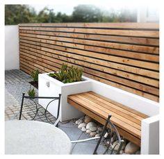 Garden Wall Designs, Small Garden Design, Beautiful Home Gardens, Beautiful Homes, Walled Garden, Contemporary Garden, Outdoor Furniture Sets, Outdoor Decor, Fence Design