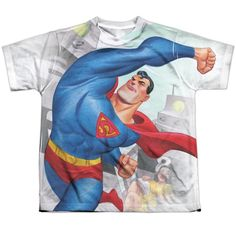 """Checkout our #LicensedGear products FREE SHIPPING + 10% OFF Coupon Code """"Official"""" Superman/classic Robots-s/s Youth Poly T- Shirt - Superman/classic Robots-s/s Youth Poly T- Shirt - Price: $24.99. Buy now at https://officiallylicensedgear.com/superman-classic-robots-s-s-youth-poly-t-shirt-licensed"""