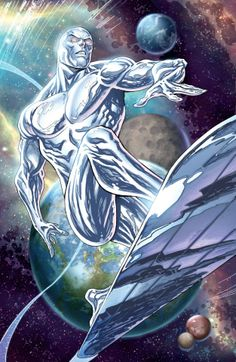 Silver Surfer by Tyler Kirkham, colours by Wes Hartman *