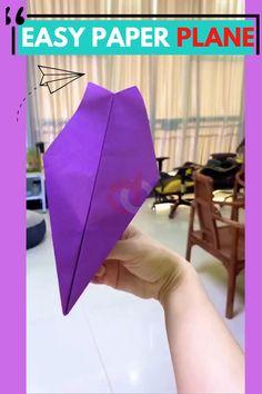 Paper Folding Crafts, Paper Crafts Origami, Paper Crafts For Kids, Diy Paper, Fun Crafts, Make A Paper Airplane, Airplane Crafts, Paper Plane, Origami Airplane