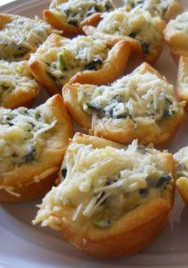 Spinach  Artichoke Bites - Easy and delicious!
