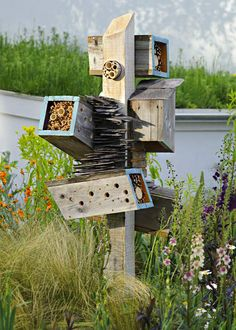 Designer bee and bug hotel spotted at Chelsea Flower Show