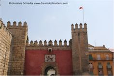 Lion's Gate Royal Alcazar, Seville Spain.  To see more pictures of the Royal Alcazar, please visit our Royal Alcazar board.