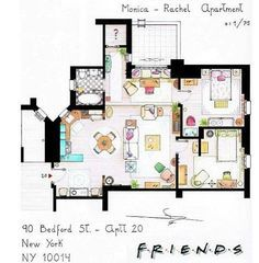 carrie bradshaws apartment floorplan art design pinterest carrie apartments and tiny houses - Rachel Home Plans