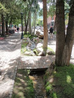 Stream / bioswale in Aspen, Colorado. Click image to enlarge and visit the slowottawa.ca boards >> https://www.pinterest.com/slowottawa/boards/