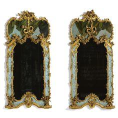 pair of Italian Rococo wall mirrors probably Torino, third quarter 18th century