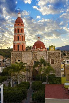 Templo de San Francisco de Asís in Juchipila, Zacatecas, Mexico. I like the fortress bottom colorful dome and bell tower