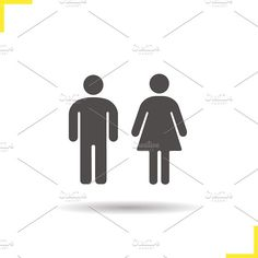 Men and women WC sign icon. Vector by Icons Factory on @creativemarket