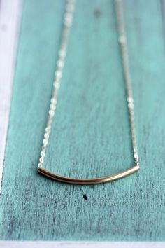 Gold Tube Necklace from Diament Jewelry $40