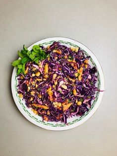 Red Cabbage Recipes, Red Cabbage Salad, Orange Recipes, Veggie Recipes, Salad Recipes, Vegetarian Recipes, Cooking Recipes, Healthy Recipes, Veggie Food