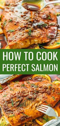 Learn how to cook salmon in the oven perfectly every time using this easy foolproof recipe. #seafood #salmon #easydinner #dinner #recipe