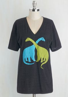 Let's Hug it Out, Bro-nto Tee - WPI, Mid-length, Knit, Grey, Green, Blue, Print with Animals, Casual, Quirky, Short Sleeves, Guys