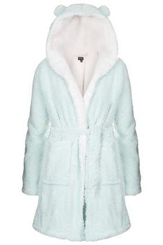 topshop: Teddy Robe. so cozy and cute! i have been looking for something with teddy ears on the hood :)