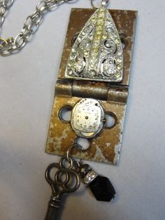 Vintage Hinge Hardware Necklace Repurposed   by OffTheCuffBracelet, $25.00