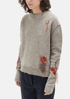 Leniz Wool Knit Sweater by Acne Studios- La Garçonne